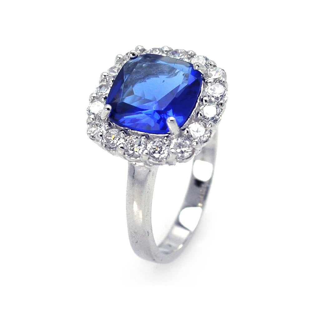 Dazzling Sapphire Princess Cut Cocktail Ring | Eve's Addiction®