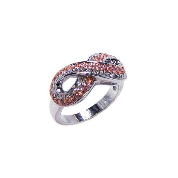 Sparkling 2 Tone CZ Infinity Ring | Eve's Addiction®