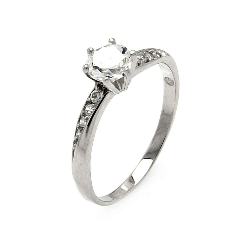 Sparkling Brilliant Cut CZ Engagement Ring | Eve's Addiction®