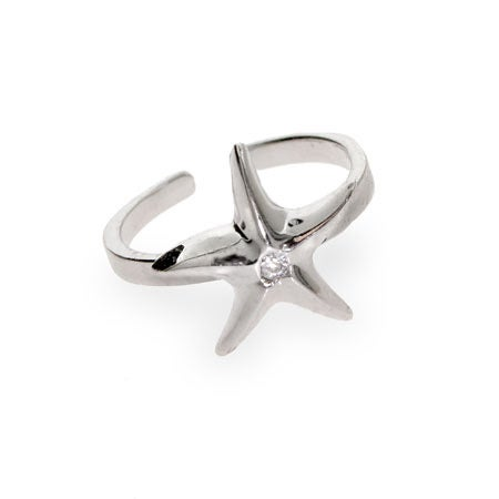 CZ Starfish Toe Ring | Eve's Addiction®