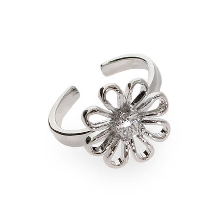 CZ Daisy Sterling Silver Toe Ring | Eve's Addiction®