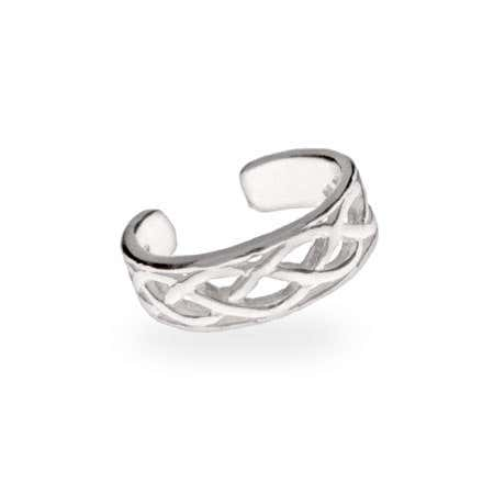 Celtic Knot Toe Ring in Sterling Silver