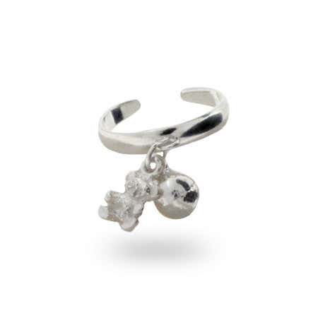 Sterling Silver Bear Charm Toe Ring   Eve's Addiction®