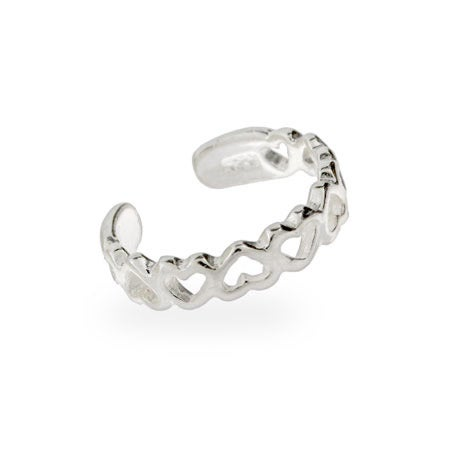 Band of Hearts Sterling Silver Toe Ring | Eve's Addiction®