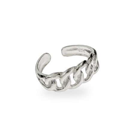 Sterling Silver Chain Link Toe Ring   Eve's Addiction®