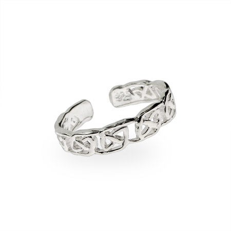 Narrow Sterling Silver Celtic Knot Toe Ring | Eve's Addiction®