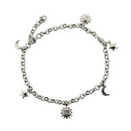 Sun, Moon, and Stars Anklet