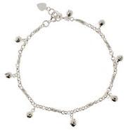Sterling Silver Jingling Bell Ankle Bracelet