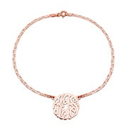 Custom Rose Gold Monogram Anklet