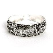 Vintage Style Flowering Vines Bali Cuff Bracelet