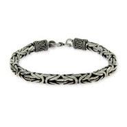 Men's Sterling Silver Bali Bracelet