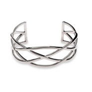 Designer Style Celtic Knot Sterling Silver Cuff Bracelet