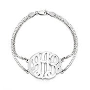 Sterling Silver Custom Monogram Bracelet