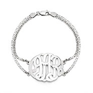 Custom Sterling Silver Monogram Bracelet