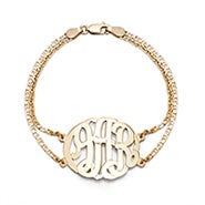 Gold Plated Custom Monogram Bracelet