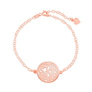 Custom Rose Gold Monogram Circle Bracelet