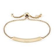 Engravable Name Bar Gold Bolo Bracelet