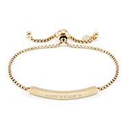 Custom Coordinate Gold Bolo Bracelet