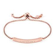 Custom Coordinate Rose Gold Bolo Bracelet