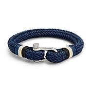 Men's Woven Navy Cotton Shackle Bracelet