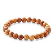 Men's Taxus Chinensis Wood Bead Bracelet
