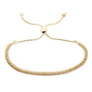 Gold Mesh Chain Bolo Bracelet