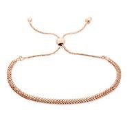 Rose Gold Mesh Chain Bolo Bracelet