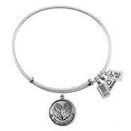 Wind and Fire In My Heart Charm Bangle Bracelet