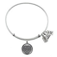 Wind and Fire Grandmother Charm Bangle Bracelet