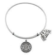 Wind and Fire Infinity Charm Bangle Bracelet