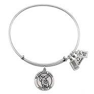 Wind and Fire Guardian Angel Charm Bangle Bracelet