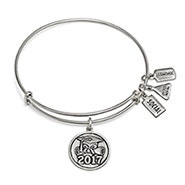 Wind and Fire 2017 Graduation Charm Bangle in Silver