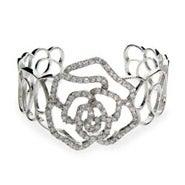 Rose CZ Cuff Bracelet