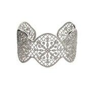 Glamorous CZ Vintage Design Sterling Silver Cuff Bracelet