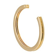 Stella Valle Initial M Gold Cuff Bracelet