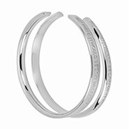 Stella Valle Best Friend Silver Cuff Bracelet Set