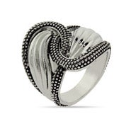 Designer Inspired Decorated Edge Spoon Ring