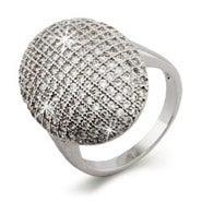 Vampire Inspired Glistening CZ Engagement Ring