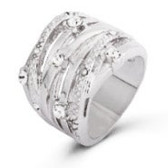 Seven Band CZ Highway Ring