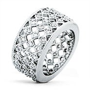 Lattice CZ Eternity Band