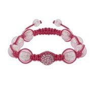 Pink Pave Crystal Shamballa Inspired Bead Bracelet