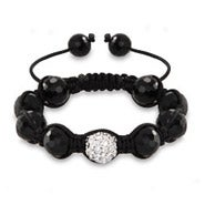 Austrian Crystal and Disco Balls Shamballa Inspired Bracelet