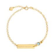 Custom Coordinate Birthstone Gold Bracelet