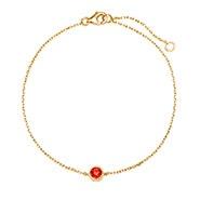 Custom Birthstone Bezel Set Gold Bracelet