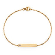 Custom Birthstone Gold Name Bar Bracelet