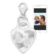 Sterling Silver Photo Heart Charm