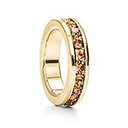 Gold November Eternity Birthstone Charm