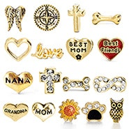 Floating Locket Gold Charms