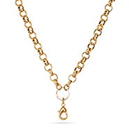 "20"" Gold Round Link Chain For Floating Lockets"