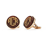 Acrylic Block Monogram Cufflinks